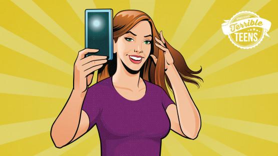 adolescentes selfie